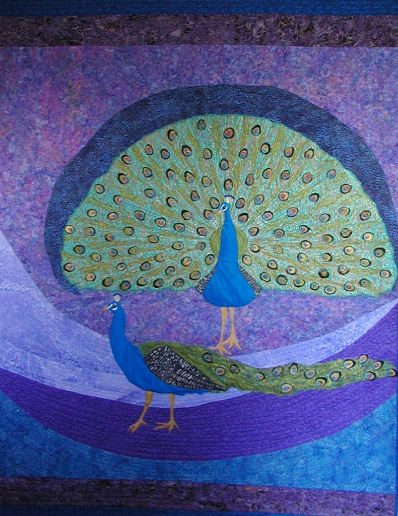 The Peacock Quilt created by Kristin Miller