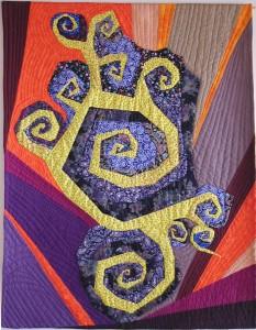 Tendrils, an art quilt by Kristin Miller
