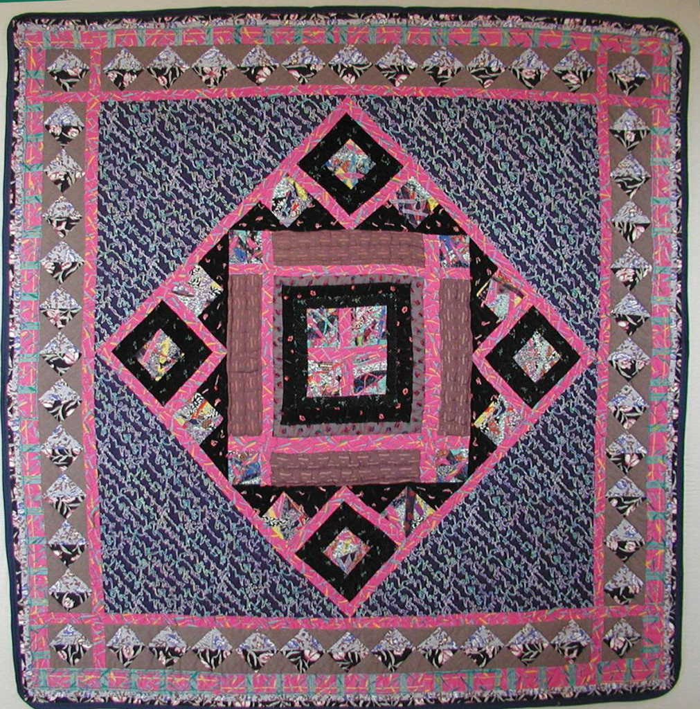 The Cryptic Quilt-a large medallion wallhanging